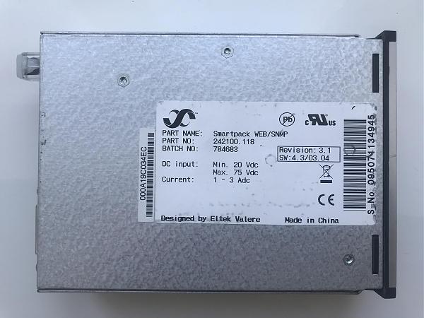 Продам Контроллер Eltek Smartpack 242100.118