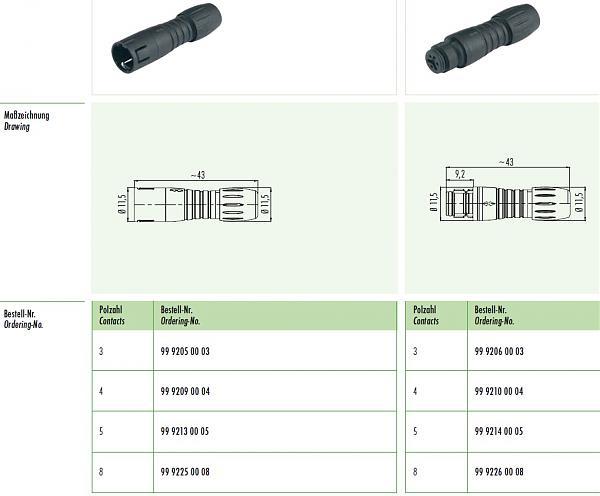 Продам Разъемы Binder IP67 (3,4,5,8 pin) быстро размык