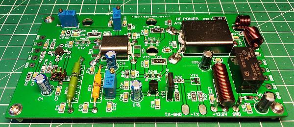 Продам КВ усилитель мощности 25-35 Вт на RD06+2xRD16