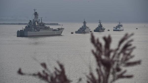 Корабли Черноморского флота в Крыму