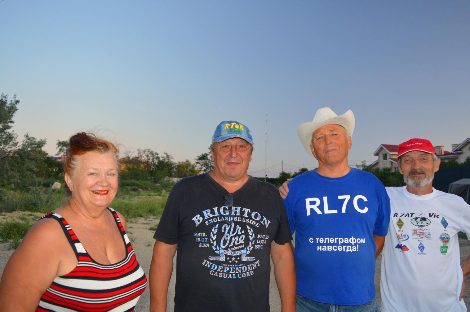 Наши гости RL7C – Леонид Синдецкий с женой, RL6C   Сергей Надточий и  R7AT – Виктор Шейкин